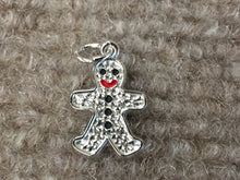 Load image into Gallery viewer, Gingerbread Man Silver Charm