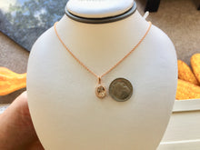 Load image into Gallery viewer, Morganite And Diamond Rose Gold Pendant With Rose Gold Chain