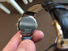 Load image into Gallery viewer, Seiko Rose Gold Color Leather Strap Women's