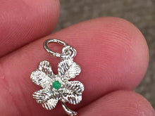 Load image into Gallery viewer, Four Leaf Clover Silver Charm