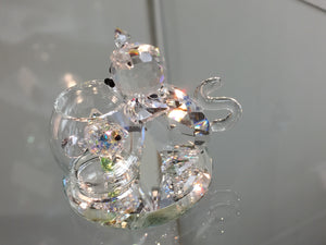 Curious Cat Crystal Figurine