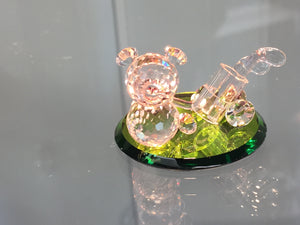 Tee Shot Teddy Crystal Figurine