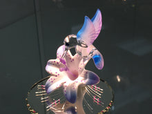 Load image into Gallery viewer, Hummingbird & Flower Glass Figurine