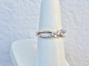 14K Yellow And White Gold Seven Diamond Ring
