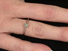 Load image into Gallery viewer, Princess Cut Diamond Engagement Ring White Gold