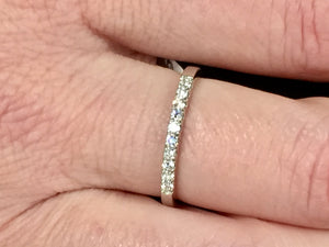 14 K White Gold Diamond Band/Ring 0.20  Carats
