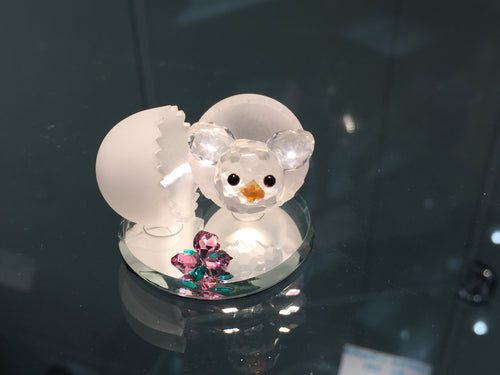Spring Chick Crystal Figurine