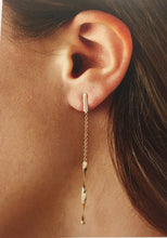 Load image into Gallery viewer, 14K Yellow Gold Dangle Earrings
