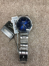 Load image into Gallery viewer, Men's Seiko Blue Dial Stainless Steel Watch