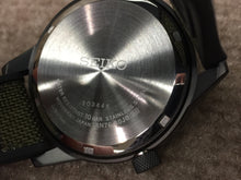 Load image into Gallery viewer, Seiko Big Date Sport Watch Carbon Fiber Style Dial
