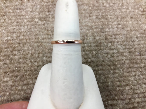 14K Rose Gold Thin Wedding Ring