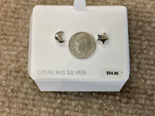 Load image into Gallery viewer, Silver Star And Moon Earrings