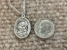 Load image into Gallery viewer, Saint Lawrence Silver Pendant With 18 Inch Chain Religious