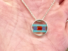 Load image into Gallery viewer, Onyx And Turquoise Sphere Pendant BY John Kennedy