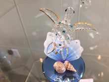Load image into Gallery viewer, Sea Turtle And Shells Glass Figurine