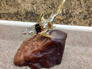Shark Glass Figurine