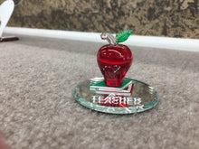 Load image into Gallery viewer, Teachers Apple Glass Figurine