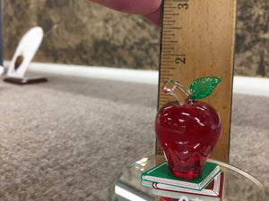 Teachers Apple Glass Figurine