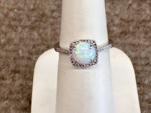 Load image into Gallery viewer, Silver Opal And Diamond Ring