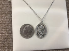 Load image into Gallery viewer, Saint Agatha Nurse Silver Pendant With Chain Religious