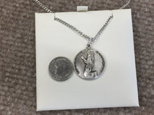 Load image into Gallery viewer, Saint Bernadette Silver Medal And Chain religious