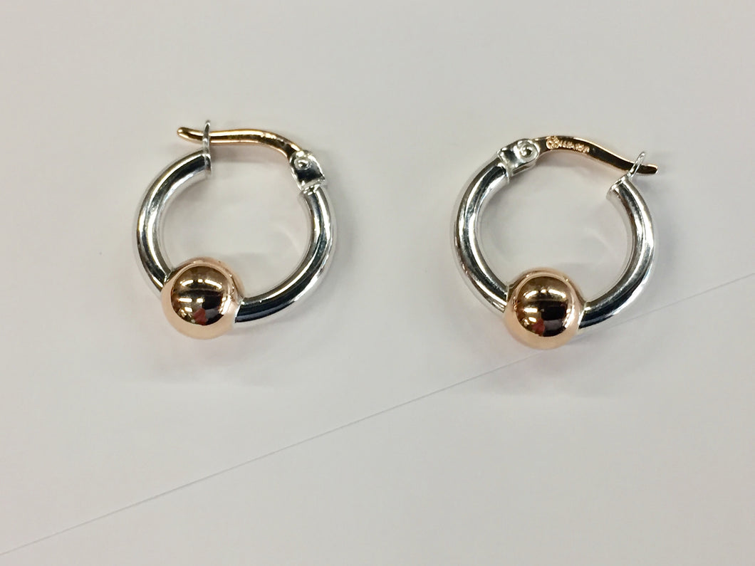 Cape Cod Hoop Earrings Rose Gold And Silver