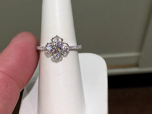 Diamond Engagement Ring White Gold 0.64 Carats