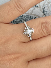 Load image into Gallery viewer, Diamond Engagement Ring White Gold 0.64 Carats