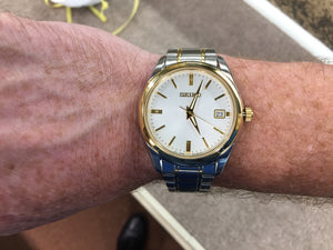 Men's Seiko Gold And Silver Colored Watch