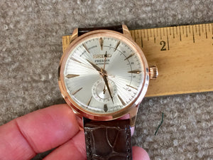 Seiko Presage Automatic Rose Gold Tone Watch