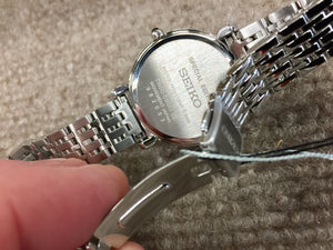 Seiko Women's Rose Gold And Silver Color Swarovski Crystals