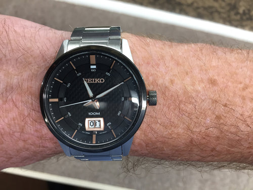 Seiko Stainless Steel Watch With Date
