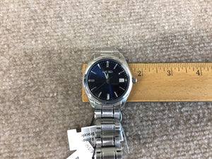 Seiko Stainless Steel Blue Dial With Date Watch