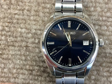 Load image into Gallery viewer, Seiko Stainless Steel Blue Dial With Date Watch