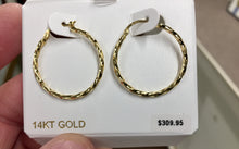Load image into Gallery viewer, Gold Twisted Hoop Earrings