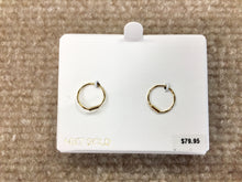 Load image into Gallery viewer, Small Gold Hoop Earrings