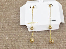 Load image into Gallery viewer, 14 K Yellow Gold Dangle Earrings