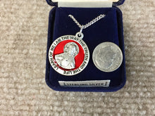Load image into Gallery viewer, Red Scapular Silver Medal With 24 Inch Silver Chain Religious