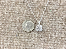 Load image into Gallery viewer, Diamond Silver Pendant With Chain