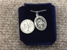 Load image into Gallery viewer, Saint James The Greater Silver Pendant With Chain Religious