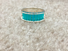 Load image into Gallery viewer, Glacier Blue Onyx Silver Ring