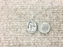 Load image into Gallery viewer, Saint Joseph Silver Pendant With 18 Inch Chain Religious