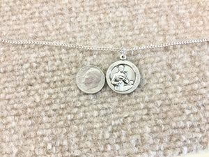 Saint Gerard Silver Medal And Chain Religious