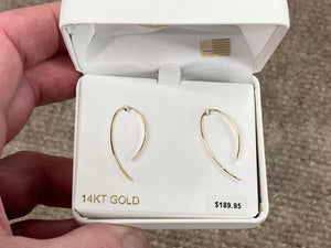 Silver Purple Heart Baby Earrings