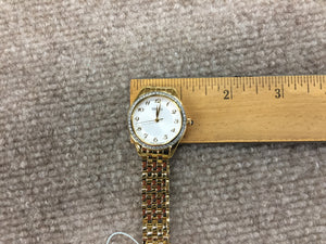 Seiko Gold Tone Crystal Women's Watch