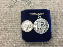 Load image into Gallery viewer, Saint Sebastian Silver Pendant With Chain Religious