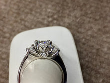 Load image into Gallery viewer, 14 K White Gold Diamond Engagement Ring