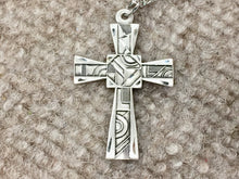 Load image into Gallery viewer, Mosaic Silver Cross With Chain Religious