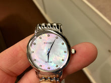 Load image into Gallery viewer, Seiko Women's Solar Watch Mother Of Pearl Dial SUP397