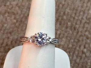 14 k Gold Diamond Engagement Ring Mounting